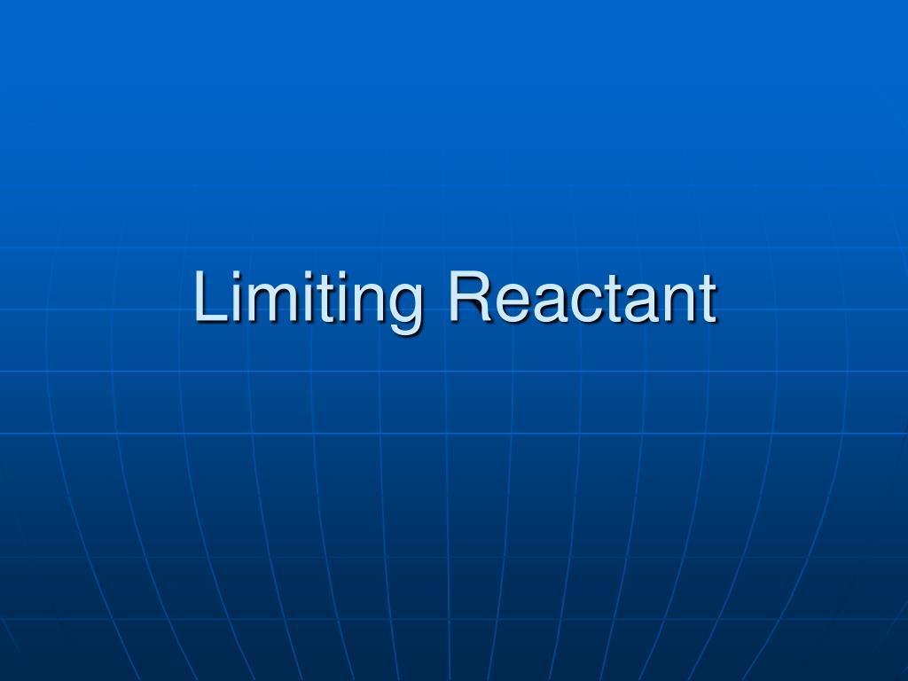 limiting reactant l.