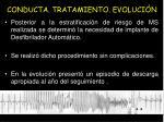 conducta tratamiento evoluci n