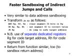 faster sandboxing of indirect jumps and calls