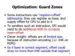 optimization guard zones