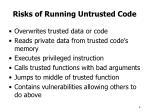 risks of running untrusted code