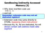sandboxing indirectly accessed memory 3