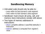 sandboxing memory