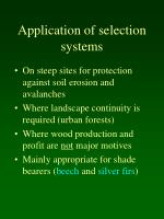 application of selection systems