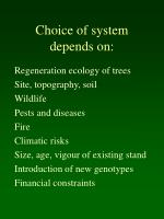 choice of system depends on