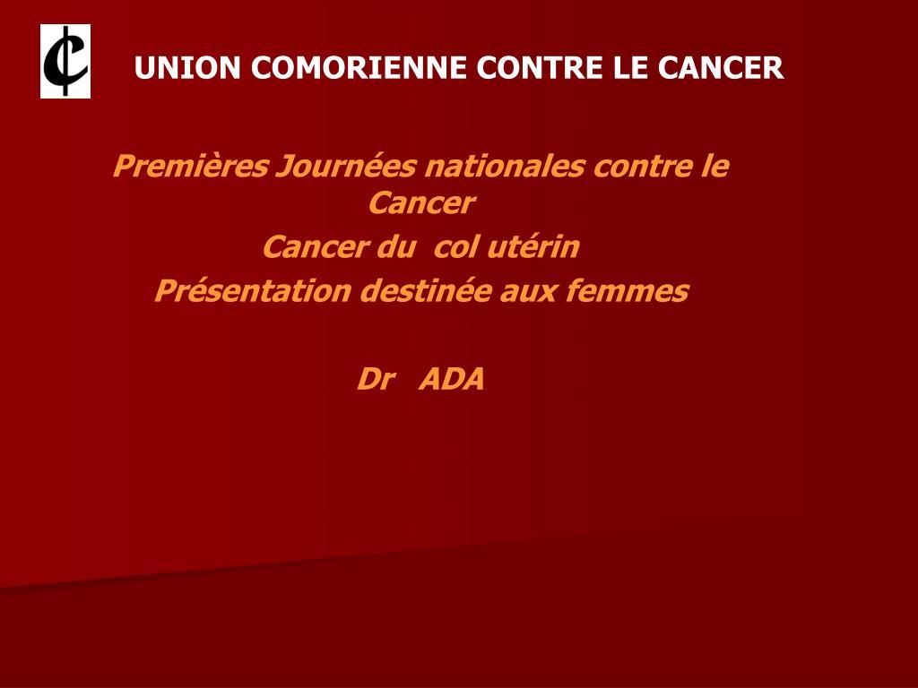 union comorienne contre le cancer l.