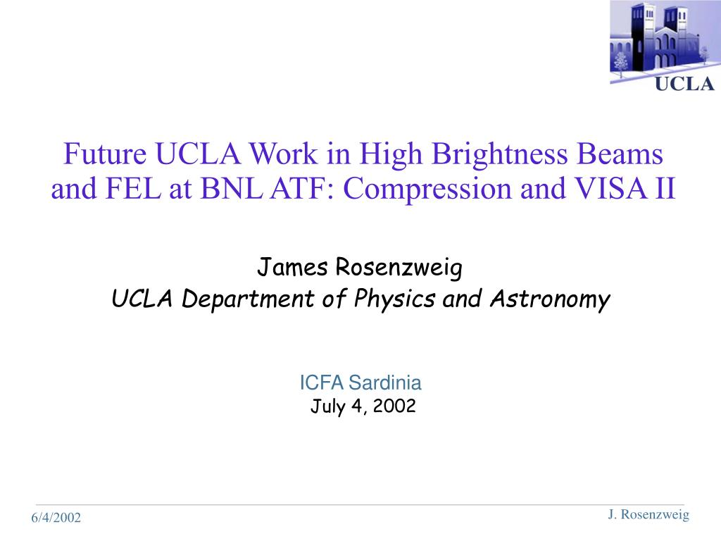 future ucla work in high brightness beams and fel at bnl atf compression and visa ii l.