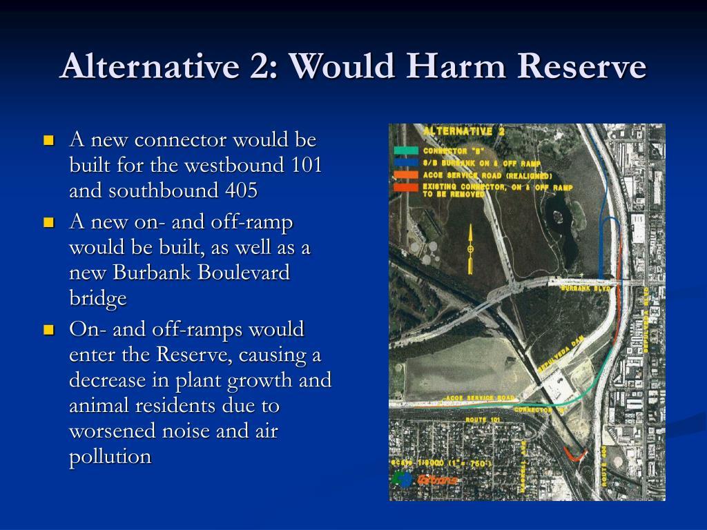 Alternative 2: Would Harm Reserve