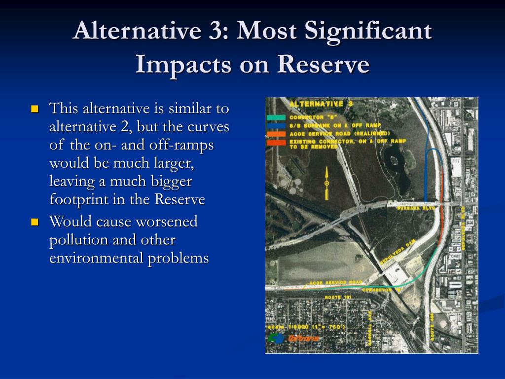 Alternative 3: Most Significant Impacts on Reserve
