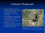 caltrans proposals
