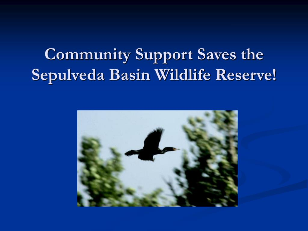 community support saves the sepulveda basin wildlife reserve l.