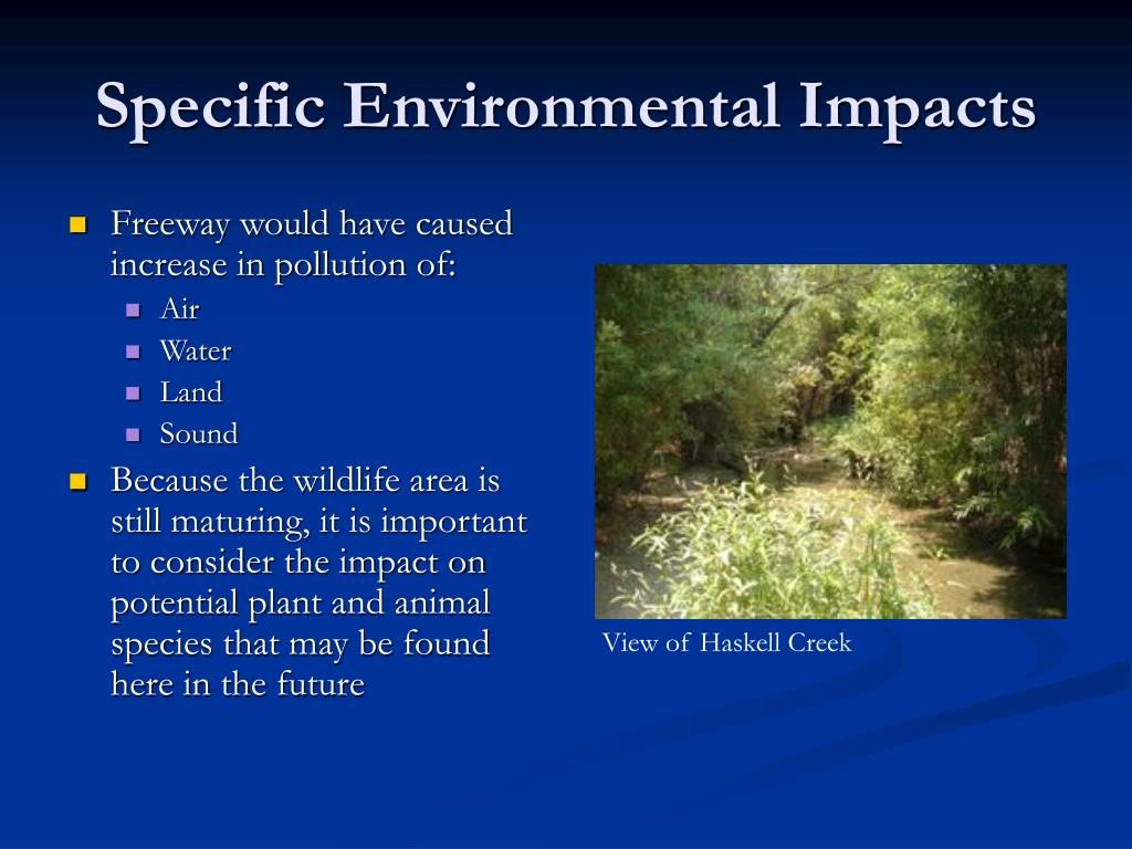 Specific Environmental Impacts