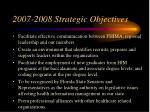 2007 2008 strategic objectives