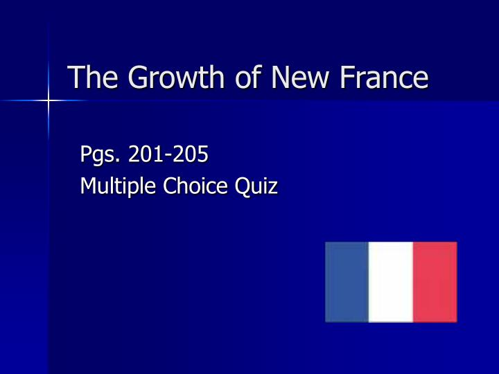 the growth of new france n.