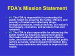 fda s mission statement