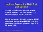 national foundation field trial salk vaccine