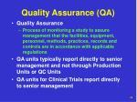 quality assurance qa
