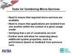 tools for combining micro services