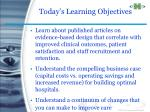today s learning objectives