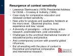 resurgence of context sensitivity