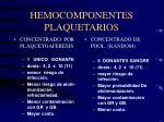 hemocomponentes plaquetarios