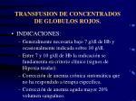 transfusion de concentrados de globulos rojos