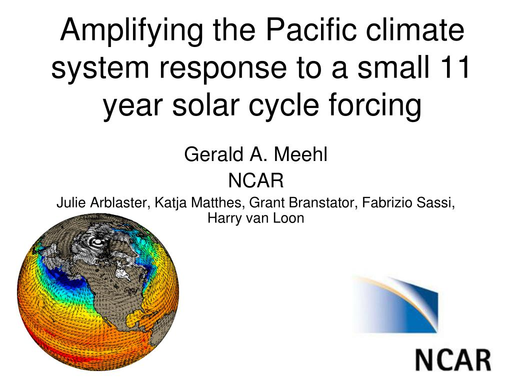 amplifying the pacific climate system response to a small 11 year solar cycle forcing l.