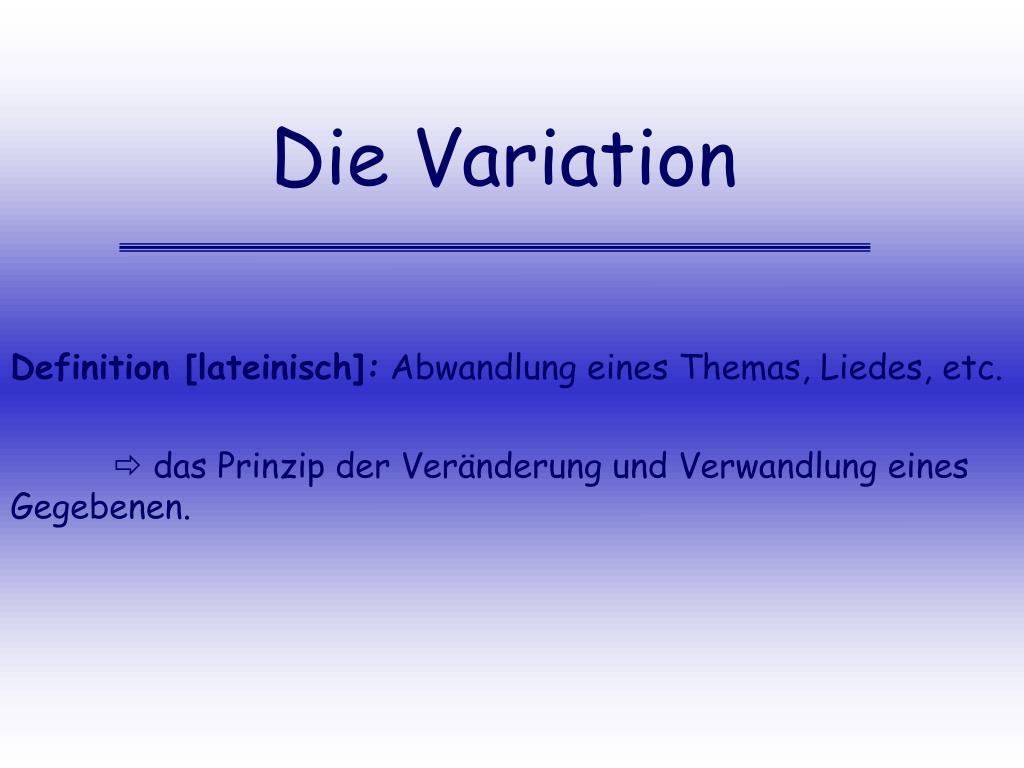 die variation l.