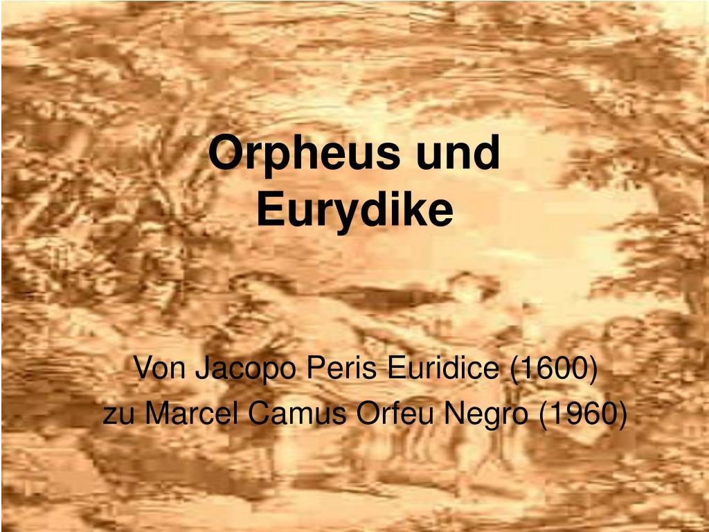 orpheus und eurydike l.