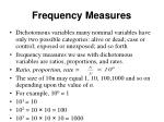 frequency measures