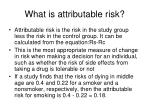 what is attributable risk