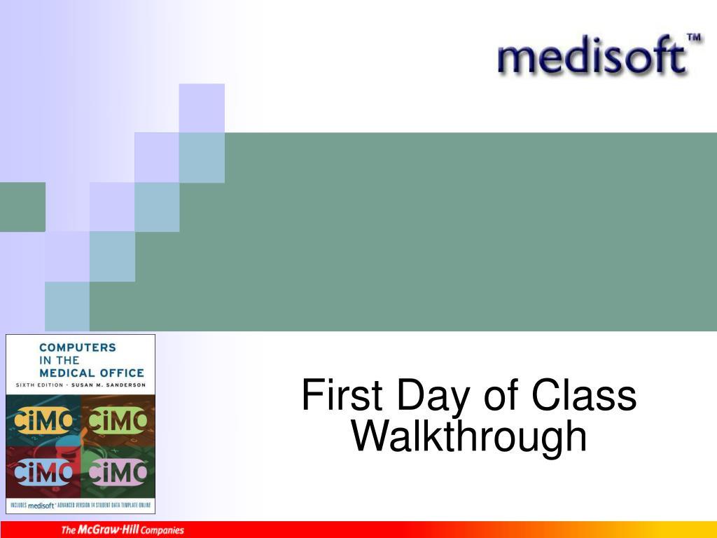 first day of class walkthrough l.