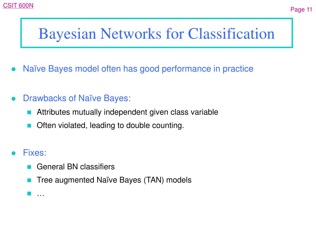 Bayesian Networks for Classification
