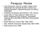 paraguay review