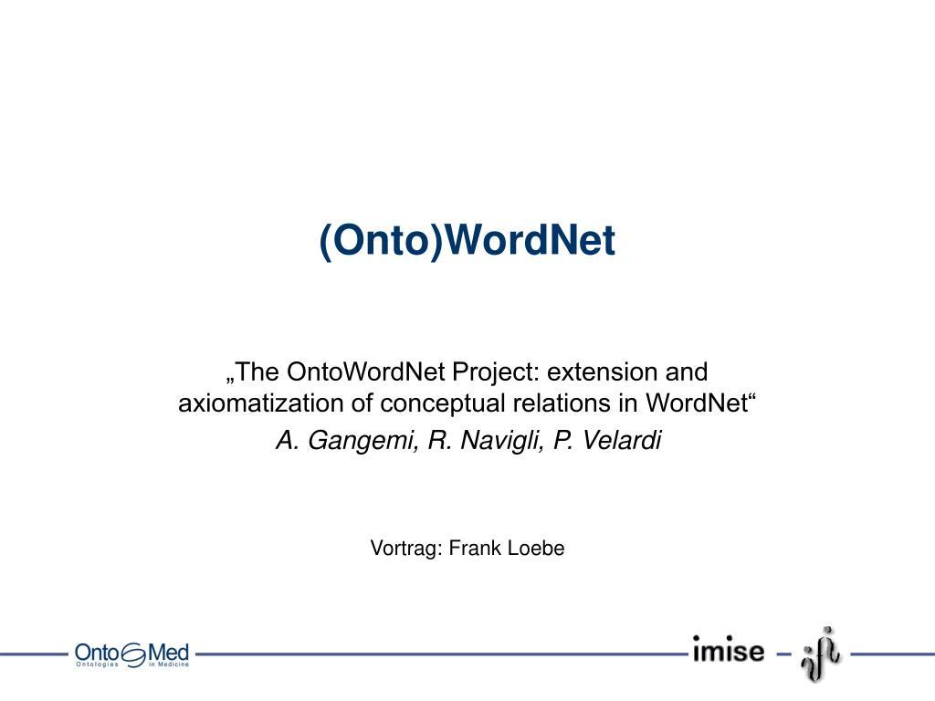 onto wordnet l.