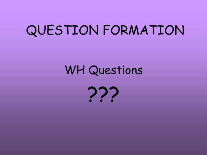 question formation n.