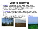 science objectives