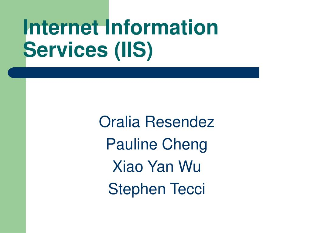 internet information services iis l.