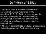 definition of esbls