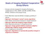 goals of imaging related cooperative group efforts
