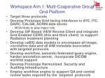 workspace aim 1 multi cooperative group grid platform