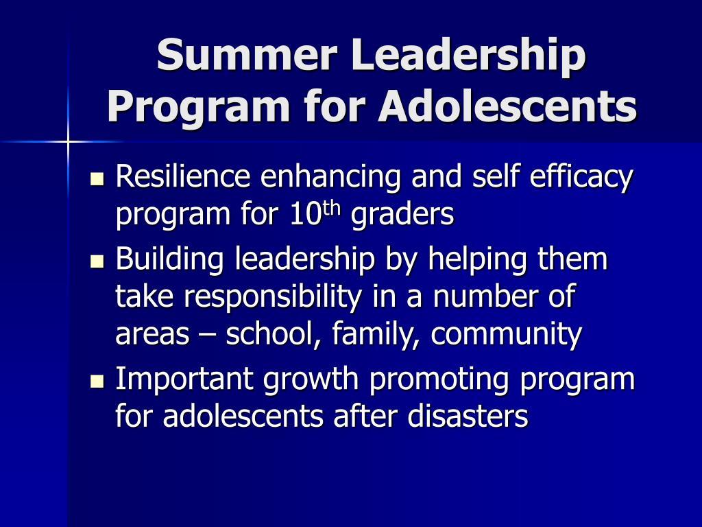 Summer Leadership Program for Adolescents