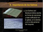 9 importancia de los salmos
