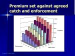 premium set against agreed catch and enforcement