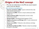 origins of the noc concept