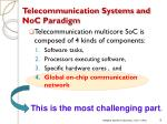 telecommunication systems and noc paradigm9