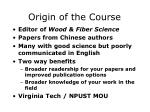 origin of the course