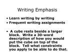 writing emphasis