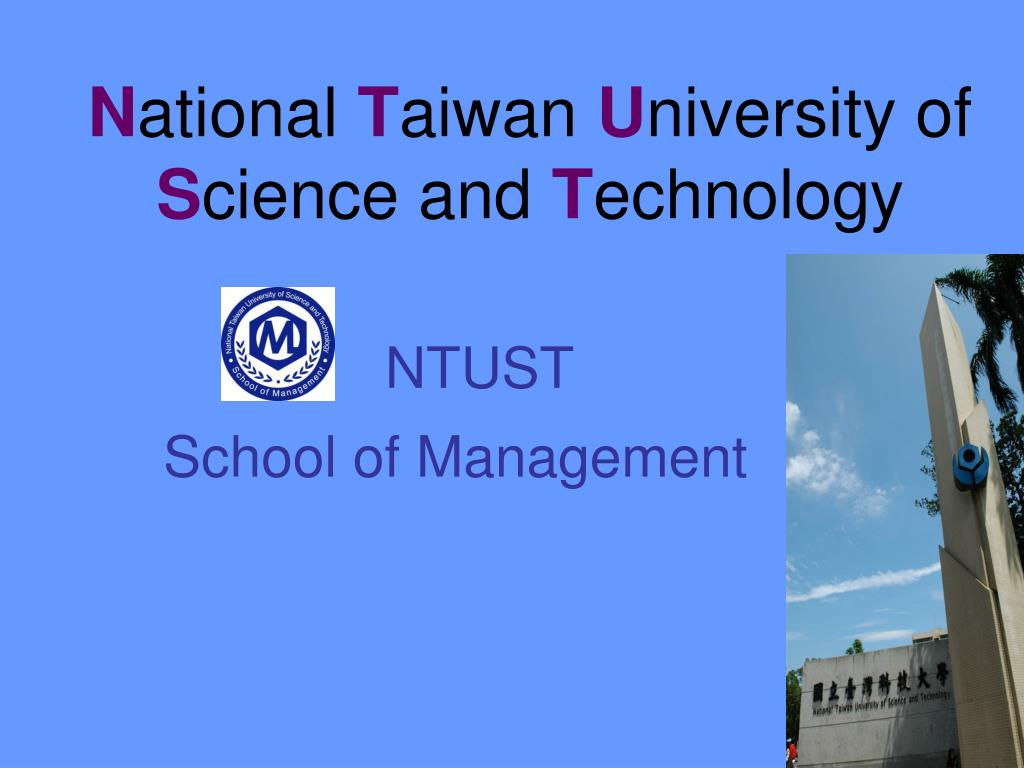 n ational t aiwan u niversity of s cience and t echnology l.