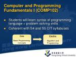 computer and programming fundamentals i comp102